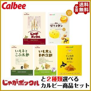 じゃがポックルと2種類選べるカルビー商品セット 送料無料 北海道 お土産