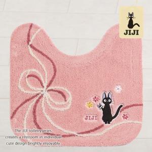 トイレマット ジジ 魔女の宅急便 おくりもの 約58×60cm ピンク senkomat