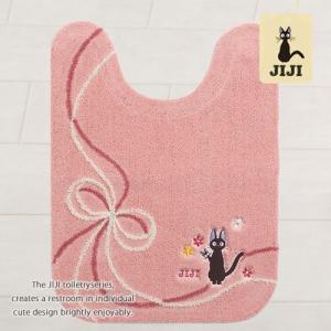 トイレマット ロング ジジ 魔女の宅急便 おくりもの 約80×60cm ピンク|senkomat