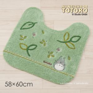 トイレマット となりのトトロ もりのかぜ 約58×60cm グリーン|senkomat