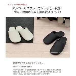 スリッパ 来客用 ヨシエイナバ フュレン Sサイズ ブラック/アイボリー|senkomat|02
