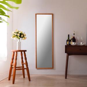 ジェミニ 41x130cm ホワイトアッシュ材 全2色 姿見 壁掛けミラー 全身鏡|sennoki