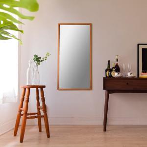 ジェミニ 50x100cm ホワイトアッシュ材 全2色 姿見 壁掛けミラー 長方形|sennoki