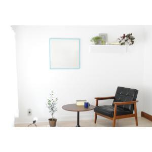 リブラ 60x60cm 全12色 カフェミラー 壁掛けミラー 正方形|sennoki