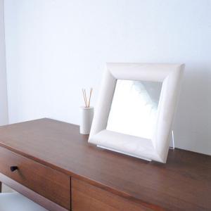 ソル 30x30cm ホワイトアッシュ材 全4色 壁掛けミラー 正方形|sennoki