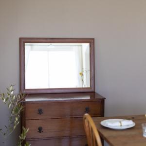 ソル 65x89cm ウォールナット材 壁掛けミラー 長方形|sennoki