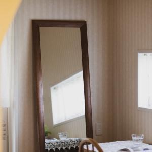 ソル 59x161cm ウォールナット材 姿見 壁掛けミラー 全身鏡|sennoki