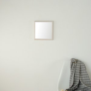 ステラ 27×27cm ホワイトアッシュ材 全4色  壁掛けミラー 卓上ミラー 正方形|sennoki