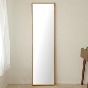 ステラ 44×155cm ホワイトオーク材 姿見 壁掛けミラー 全身鏡|sennoki