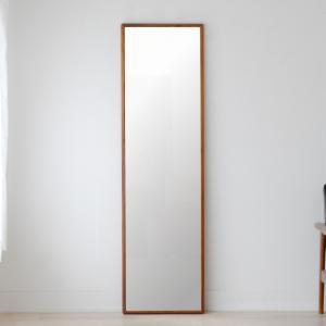 ステラ 44×155cm ウォールナット材 姿見 壁掛けミラー 全身鏡|sennoki
