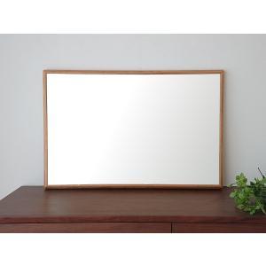 ステラ 49×74cm ホワイトオーク材 姿見 壁掛けミラー 長方形|sennoki