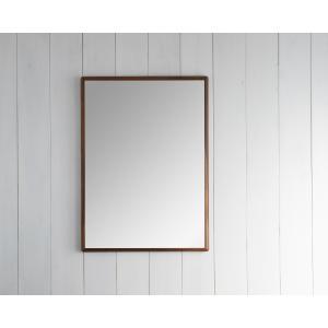 ステラ 49×74cm ウォールナット材 姿見 壁掛けミラー 長方形|sennoki