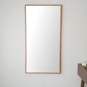 ステラ 54×102cm ホワイトオーク材 姿見 壁掛けミラー 長方形 sennoki
