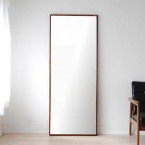 ステラ 62×155cm ウォールナット材 姿見 壁掛けミラー 全身鏡|sennoki