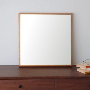 ステラ 62×62cm ホワイトオーク材  壁掛けミラー 正方形 sennoki