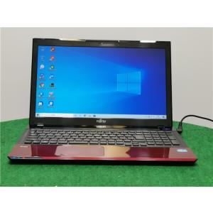 カメラ内蔵/中古/15型/ノートPC/Win10/WPSOffice/新品SSD256/8GB/3世代i3/リカバリー/FMV AH45/J リカバリー領域 新品無線マウス Microsoft Office2019 senrakuen
