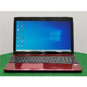カメラ内蔵/15型/ノートPC/Windows10/爆速新品SSD256/8GB/AMD E1-2100/FMV AH40/R  新品無線マウス リカバリー領域    Microsoft Office2019|senrakuen