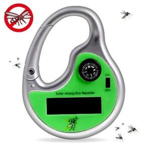 ソーラー式 虫よけ超音波フック 電池不要!配線不要!超音波で、嫌〜な虫を近づけ...