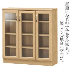 ガラス扉のキャビネット、本棚。 食器棚やコレクションディスプレイにも。  ●商品サイズ 幅833×奥...