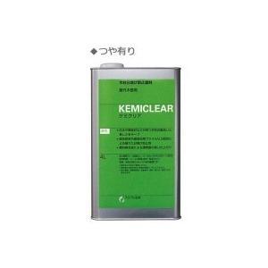 木材日焼け防止塗料(屋外木部用) ケミクリア(油性) 4L 艶有り|senssyo