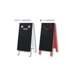 Mr.BlackyミスターブラッキーL マーカー用ボード(顔付き両面黒板ボード) レッド・BB005001|senssyo