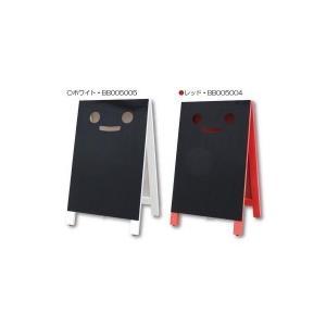Mr.BlackyミスターブラッキーLL マーカー用ボード(顔付き両面黒板ボード) レッド・BB005004|senssyo