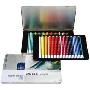 VAN GOGH ヴァンゴッホ 水彩色鉛筆 60色セット(メタルケ-ス入り) T9774-0065 157401|senssyo