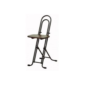 ルネセイコウ 高さ調節が自由な折りたたみチェア ベストホビーチェア ダークブラウン/ブラック  日本製 完成品 W-150TD|senssyo
