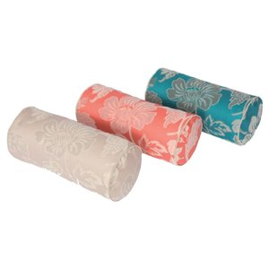 川島織物セルコン selegrance(セレグランス) フルール ボルスター型クッション 40×18Rcm LL1403 P・ピンク|senssyo