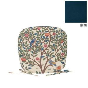 川島織物セルコン Morris Design Studio ケルムスコットツリー ダイニングシートクッション 45×43Vcm LN1722 BE ベージュ|senssyo