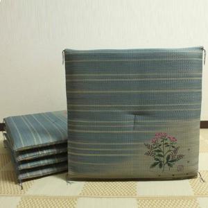 純国産 捺染返し い草座布団 『藤袴(ふじばかま) 5枚組』 約55×55cm 3114700|senssyo