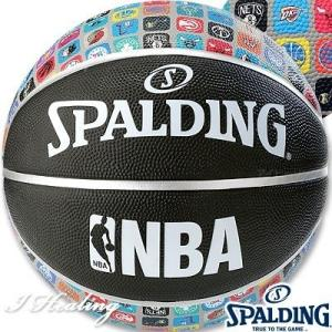SPALDING バスケットボール7号 NBAアイコンボール ブラック ラバー スポルディング83-649Z|senssyo