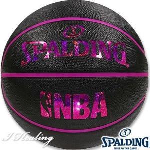 SPALDING ミニバス バスケットボール5号 キラキラ ホログラム ブラックレッド 小学校 子供用 ラバー スポルディング83-795J|senssyo