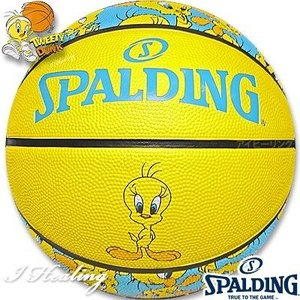 SPALDING ミニバス バスケットボール5号 トゥイーティー ルーニーテューンズ イエロー 小学校 子供用 ラバー スポルディング83-797J|senssyo