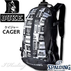 DUKE LOGO ケイジャー ロゴ ブラック 40-007 バスケットボール バッグ デューク スポーツ バスケ用バックパック リュック スポルディング CAGER 40-007DKK|senssyo