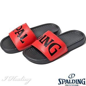 SPALDING スポーツサンダル レディース レッド バスケットボール ビッグロゴ スポルディングSASH001W-RED|senssyo