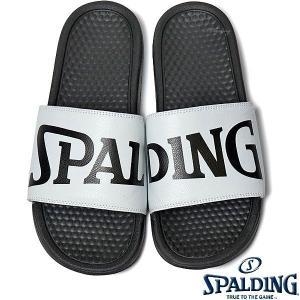 SPALDING スポーツサンダル レディース ホワイト バスケットボール ビッグロゴ スポルディングSASH001W-WHITE|senssyo