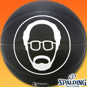 SPALDING UNCLE DREW キャラクターコンポジットボール アンクルドリュー バスケットボール7号 ブラック 合成皮革 スポルディング76-3278|senssyo