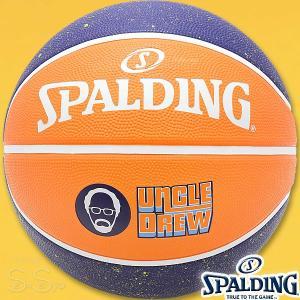 SPALDING UNCLE DREW プレイヤーアクションラバーボール アンクルドリュー バスケットボール7号 オレンジ ラバー スポルディング71-1428|senssyo