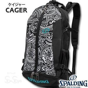 SPALDING ケイジャー ポリネシアン ブラック バスケットボール バッグ バックパック リュック スポルディング CAGER 40-007PB|senssyo