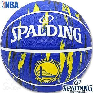 SPALDING ミニバス バスケットボール5号 NBAゴールデンステイト ウォリアーズ マーブル 小学校 子供用 ラバー スポルディング83-929J|senssyo