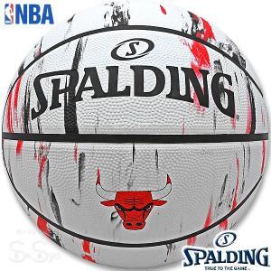 SPALDING バスケットボール7号 NBAシカゴ ブルズ マーブル ラバー スポルディング83-930J|senssyo