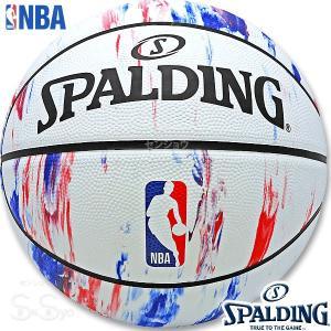 SPALDING バスケットボール7号 NBAロゴ マーブル 大理石柄 ラバー スポルディング83-934J|senssyo