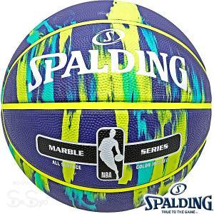 SPALDING バスケットボール7号 マーブル ネイビー マルチ 大理石柄 ラバー スポルディング83-952J|senssyo