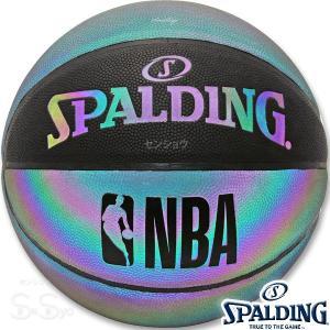 SPALDING IRIDESCENT バスケットボール7号 イリディセント 反射で光る玉虫色 合成皮革 スポルディング76-342J|senssyo