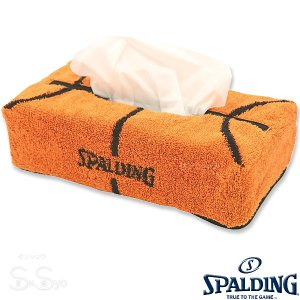 SPALDING ティッシュケース バスケットボール柄タオル 綿 グッズ スポルディング39-002 日本製|senssyo