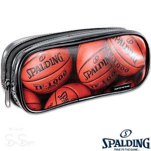 SPALDING プリントペンケース オレンジ 筆箱 筆入れ バスケットボール グッズ スポルディングSPF130D|senssyo
