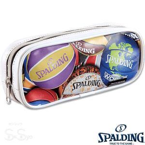 SPALDING プリントペンケース ホワイト 筆箱 筆入れ バスケットボール グッズ スポルディングSPF130W|senssyo