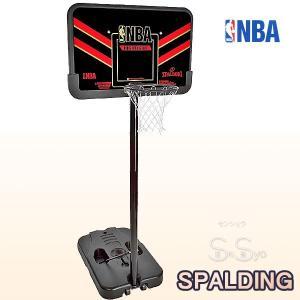 SPALDING バスケットゴール NBAハイライト コンポジット ポータブル スタンド付フルセット バスケットボール 自宅シュート練習 家庭 屋外 スポルディング61798CN|senssyo