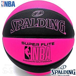 SPALDING SUPER FLITE 女性用バスケットボール6号 スーパーフライト ブラック ピンク 合成皮革 NBAロゴ スポルディング76-511J|senssyo
